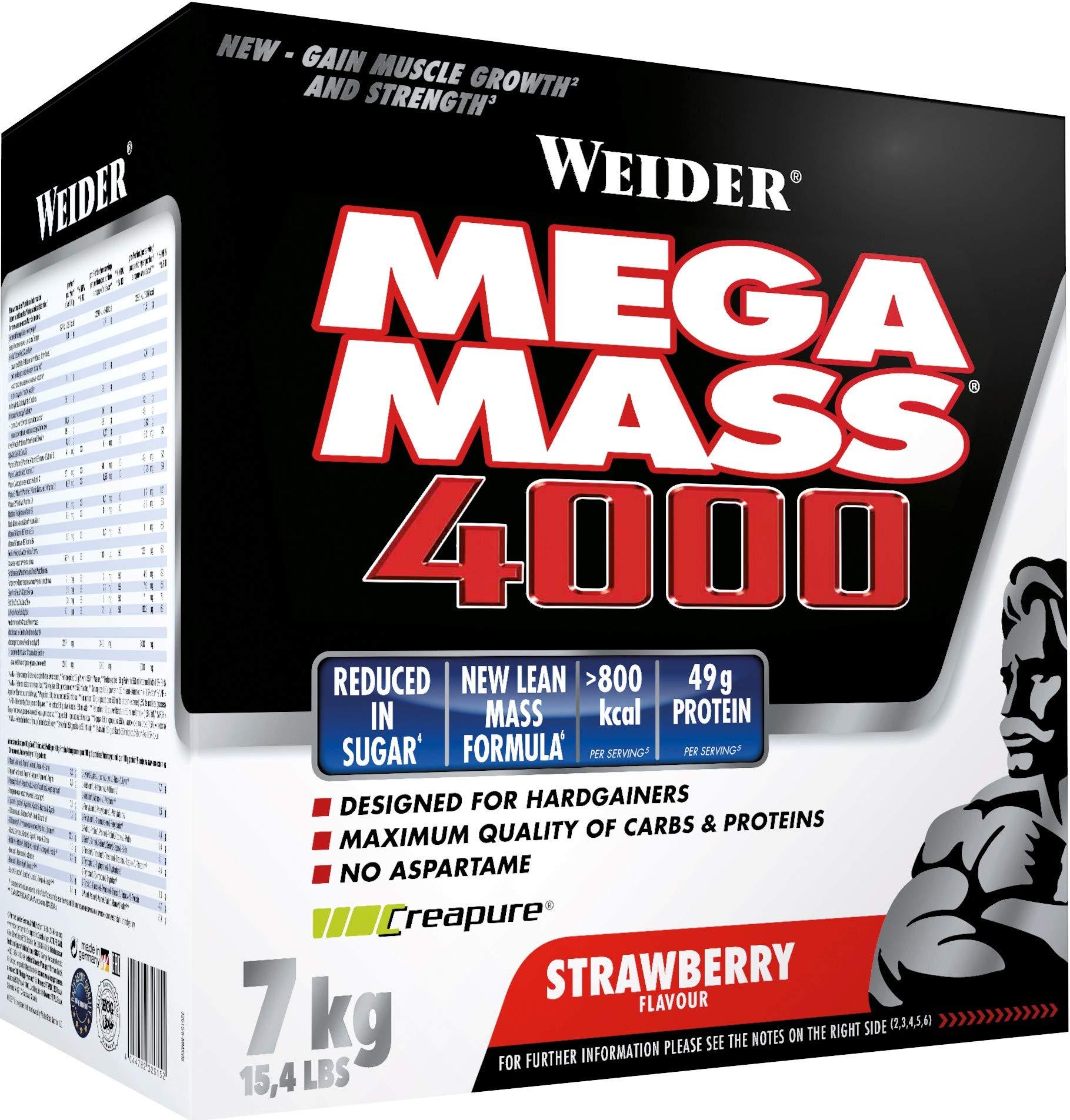 Weider Nutrition Mega Mass 4000 Strawberry 7000g