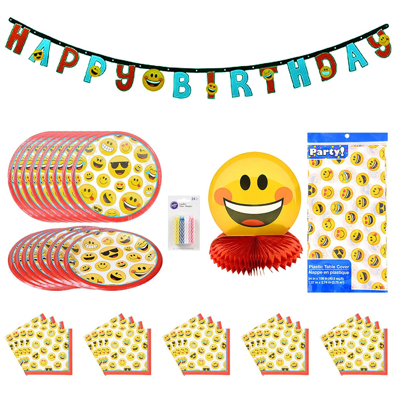 Emoji Party Decorations For Birthdays Bundle