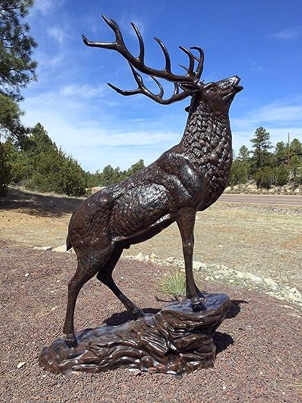 MJM Elk on The Rock Aluminum Statue