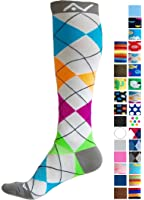 Compression Socks (1 pair) for Women & Men by A-Swift - Best For Running, Athletic Sports, Crossfit, Flight Travel - Suits Nurses, Maternity Pregnancy - Below Knee High