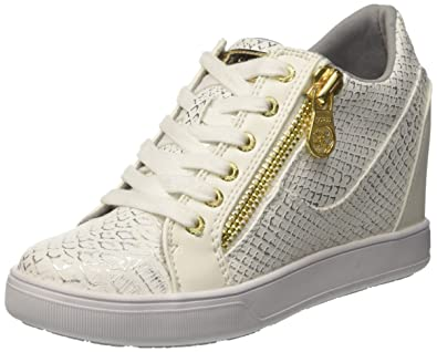 Guess Footwear Active Lady, Zapatillas para Mujer, Blanco White, 39 EU: Amazon.es: Zapatos y complementos