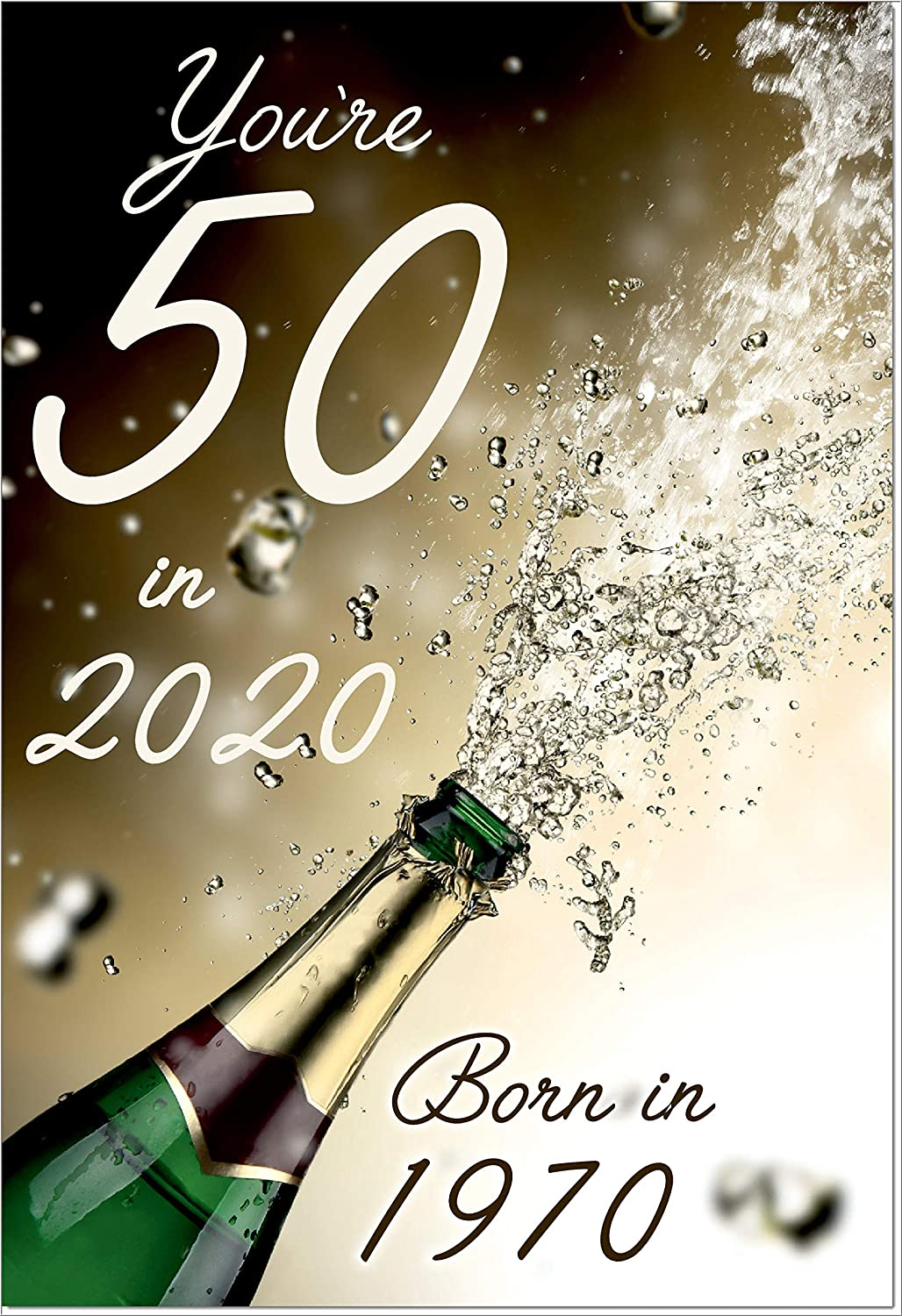 You're 50 in 2020, Born in 1970 Birthday Card