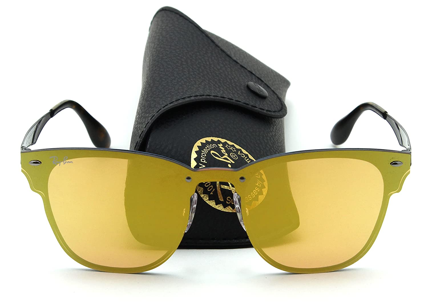 c44d7b1d1f Amazon.com  Ray-Ban RB3576N BLAZE CLUBMASTER Sunglasses 90377J