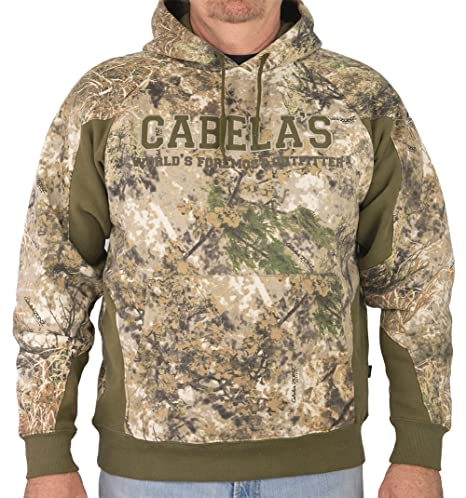 ed3b2e3ae5793 Amazon.com : Cabela's ColorPhase Hunt Hoodie (Zonz Western Green ...