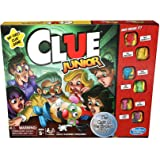 Clue Junior Board Game for Kids Ages 5 and Up, Case of The Broken Toy, Classic Mystery Game for 2-6 Players