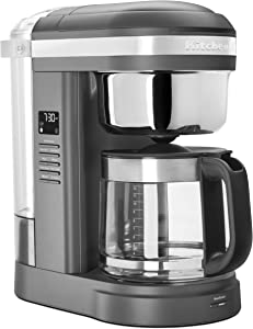 KitchenAid KCM1209DG Drip Coffee Maker, 12 Cup, Matte Grey