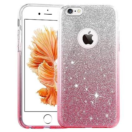 brand new 1763f 0ea03 Amazon.com: iPhone 6s Plus Case Conver, Ensida Girls Shiny Glitter ...