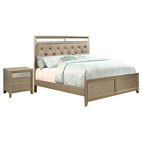 HOMES: Inside + Out IDF-7101CK-2PC 2 Piece ioHOMES Tawna Modern Bed