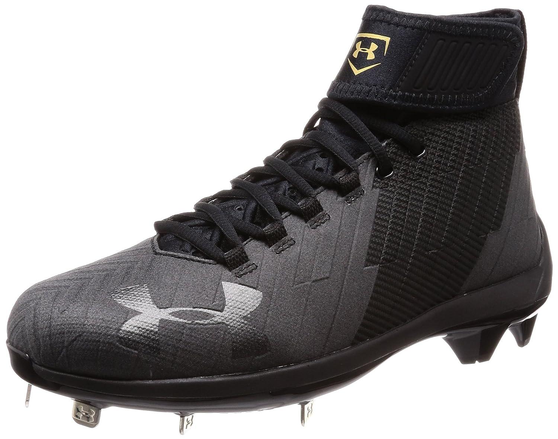 [アンダーアーマー] ベースボールスパイクシューズ UA Harper 2 Stealth Mid ST メンズ 3019932 B079MY4TPL 24.5 cm Blk/Blk