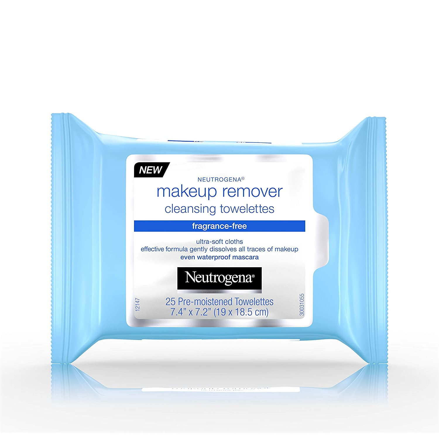 Neutrogena Makeup Remover Cleansing Towelettes, Fragrance Free, 25 ct (Pack of 5)