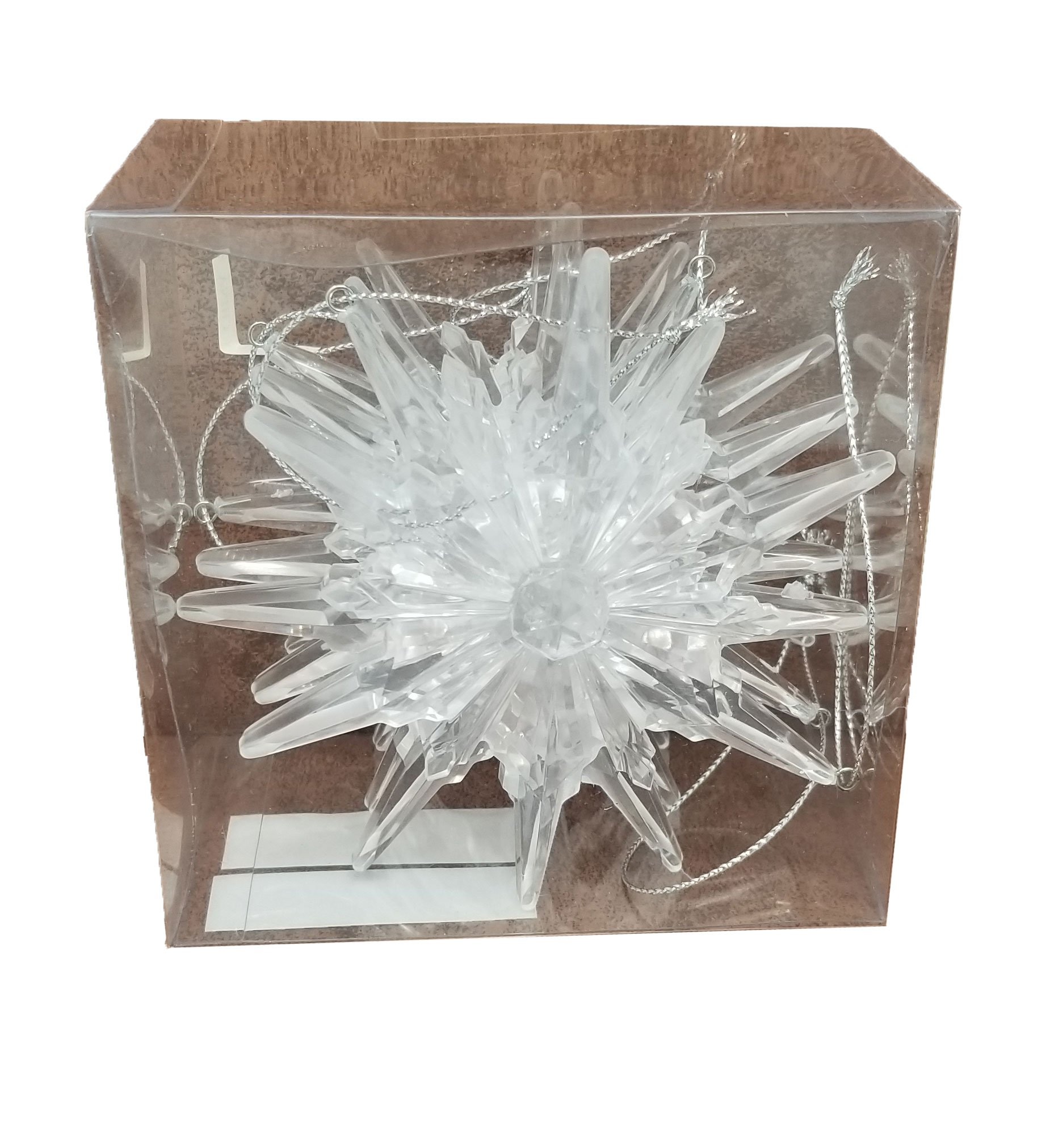 Findlavender Snow Flake Acrylic Ornaments - Perfect to decorate your tree - 6 snowflakes per set