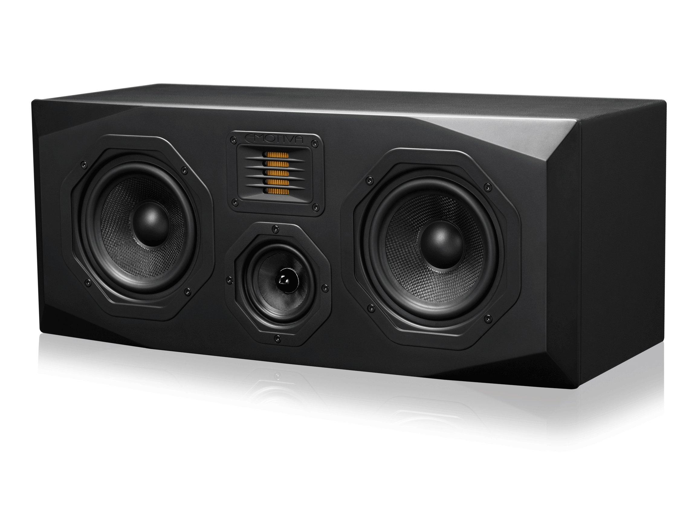 Emotiva Audio Surround Center Channel Home Speaker Set of 1 Black (C1) by Emotiva Audio