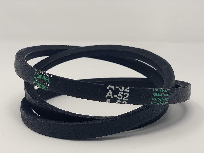 D/&D PowerDrive A52 or 4L540 V Belt  1//2 x 54in  Vbelt