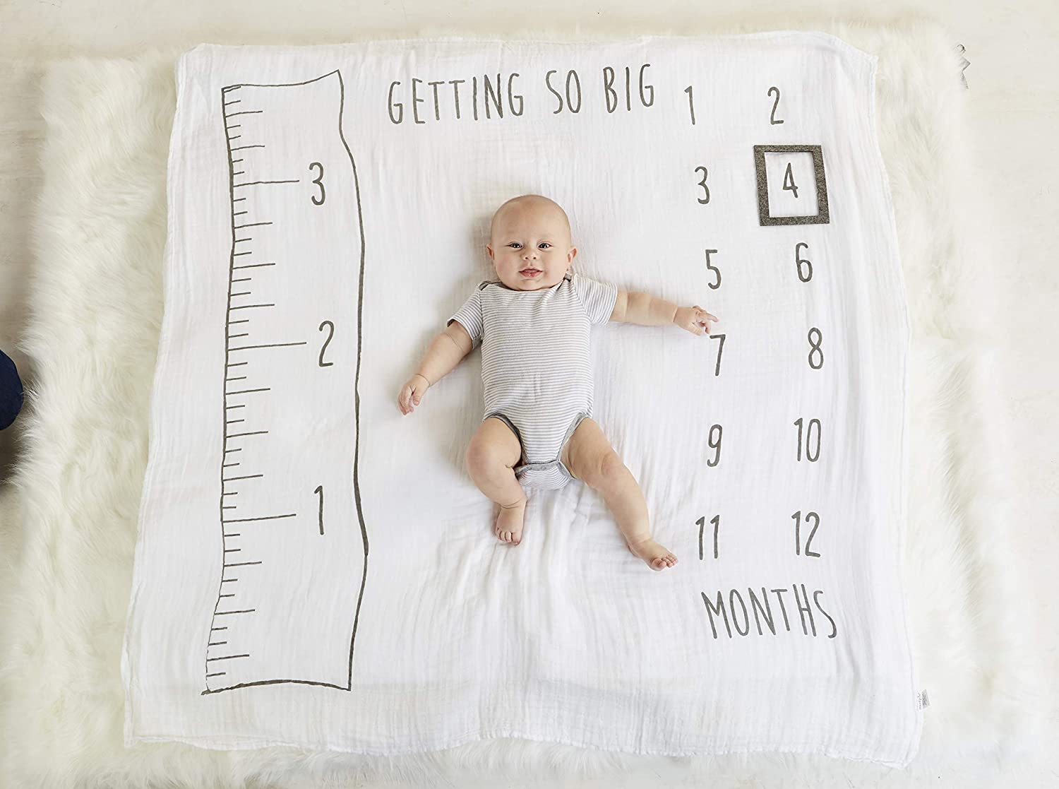 Mud Pie Milestone Blankets (Watch Me Grow Blanket)
