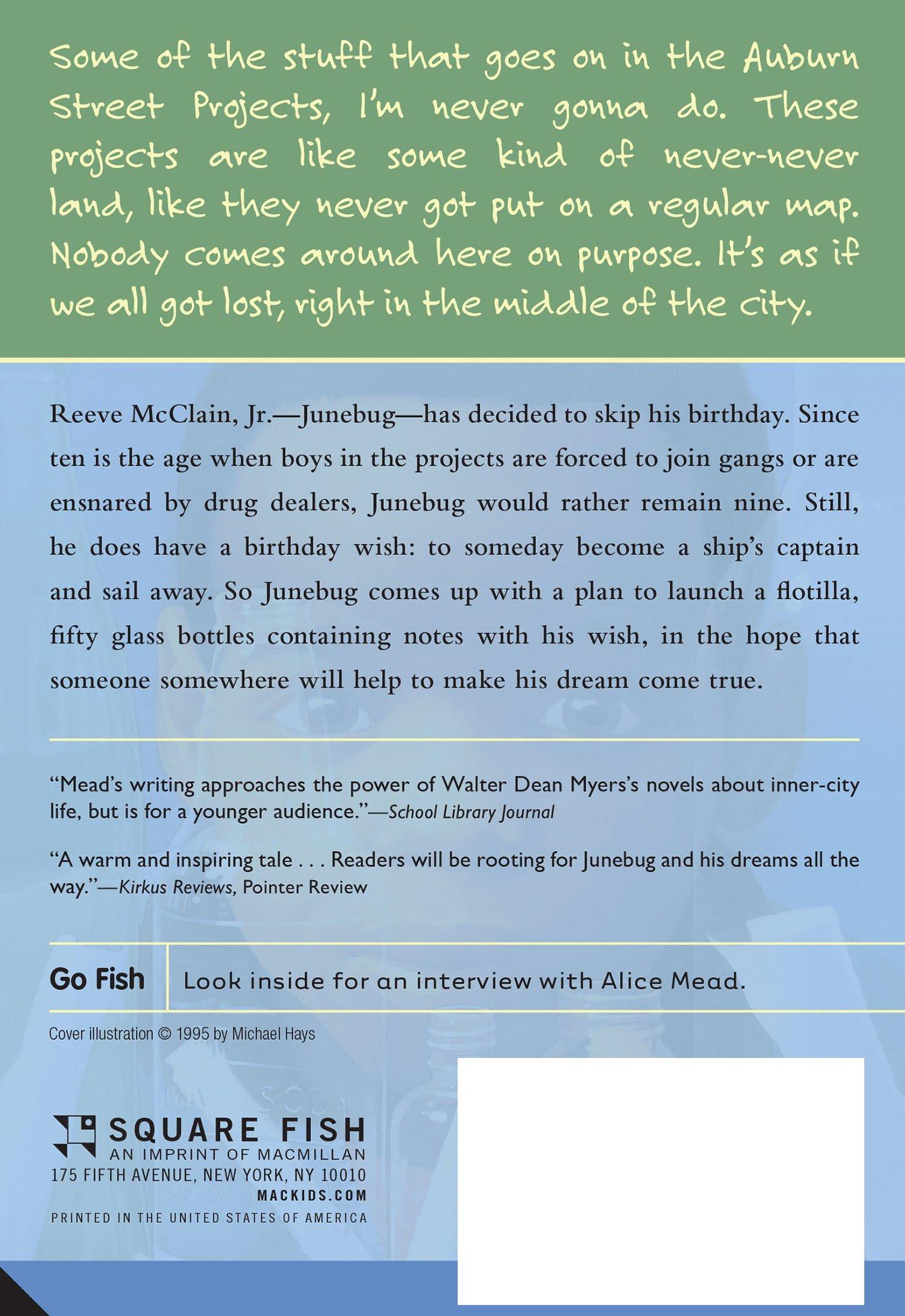 Junebug: Alice Mead: 9780312561260: Amazon com: Books