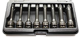 Ribe Satz Schlagschrauber-Nüsse Nuss Set Kfz M5 M6 M8 M10 M12 M14 M16 M18 1//2