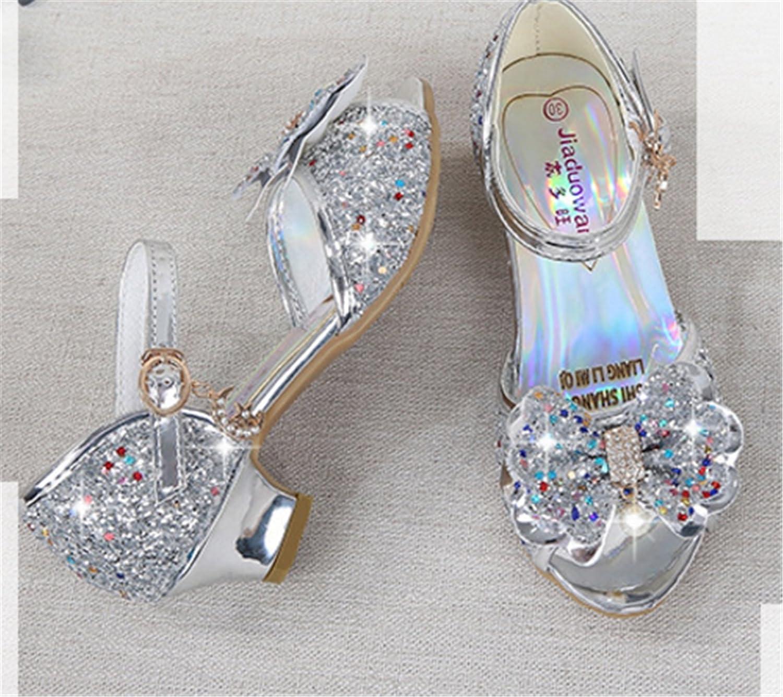 YOGLY Sandalias Para Niñas Zapatos de Tacón Disfraz de Princesa Niñas  Fantasía de Tacones Altos Lazo Lentejuelas Para Fiesta Cosplay Carnaval   Amazon.es  ... c550e8fc112d2