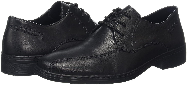 Rieker Men Lace-Up Shoes black, 1080200 nero