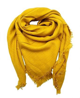 nativo Êcharpe Carreaux femme Tartan Châle Foulard Laine Hiver femme ( moutarde)  Amazon.fr  Vêtements et accessoires ae404e647b7