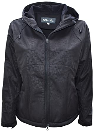 a0fbe868258a6 Pulse Womens Extended Plus Size Soft Shell Hooded Jacket at Amazon ...