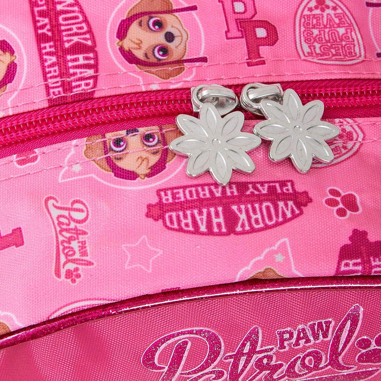 Paw Patrol Sac /à dos en peluche pour gar/çons et filles Motif personnage 3D Rose Taille Unique