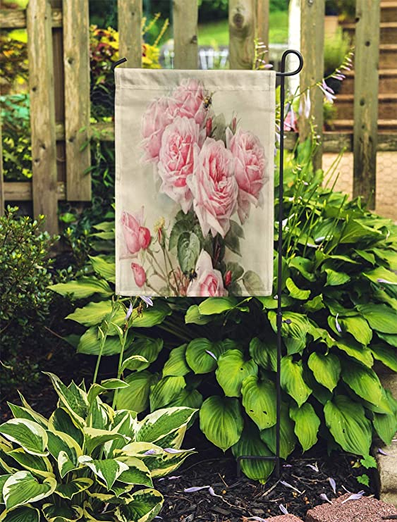 Ablitt Garden Flags 28 X 40 Vintage Shabby Chic Pink Victorian Painting Feminine Her Paul Outdoor Decorative House Yard Flag Garden Outdoor