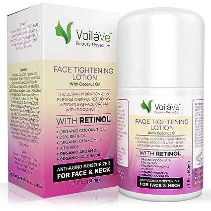 Coco la humedad con Retinol – Aceite de Coco Orgánico Facial Moisturizer + 2,5