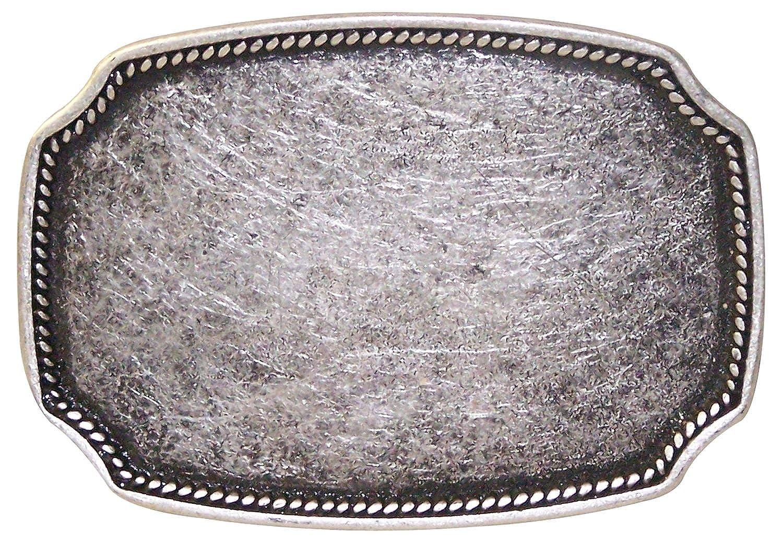 Fronhofer Eckige Gürtelschnalle Buckle Damen 4,5 cm altsilber Schnalle, 18332 Farbe:Silber Größe:One Size