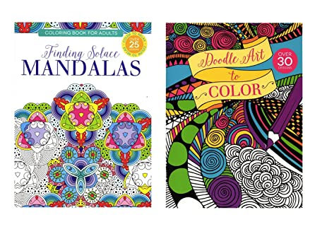 Coloring Books For Adults Doodle Art To Color Finding Solace Mandalas Paper Craft