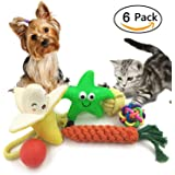 6 Pack Dog Toy Set Ball Rope and Chew Squeaky Toys for Small Medium Dog