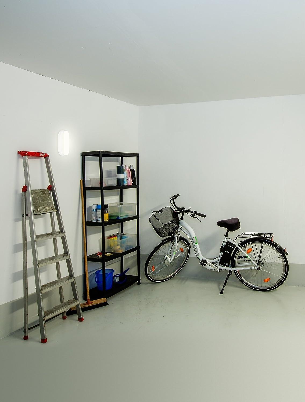 bianco luce LED Plastica Lampada da ambienti M/üller Bulkhead 20 x 10 x 5.5 cm 8watts 230volts