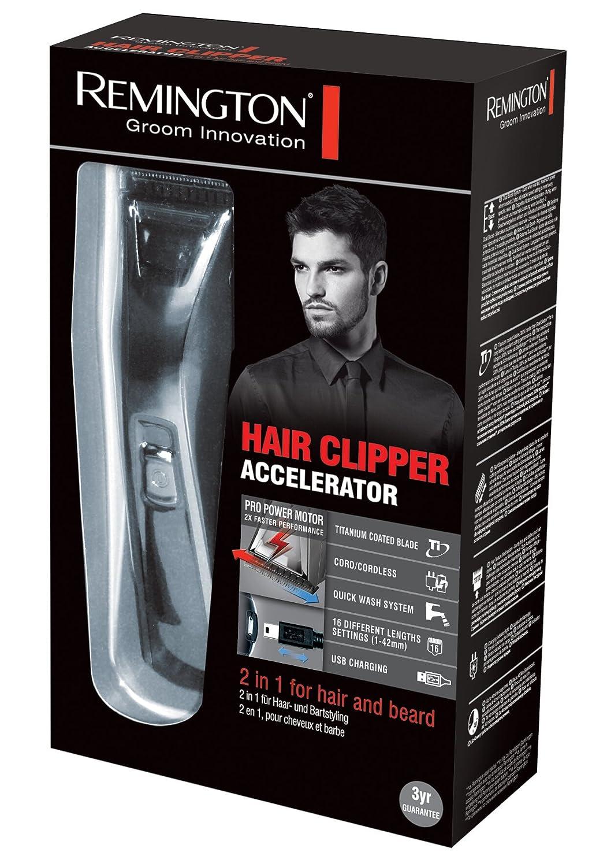 Remington Accelerator HC5550 - Cortapelos: Amazon.es: Salud y cuidado personal