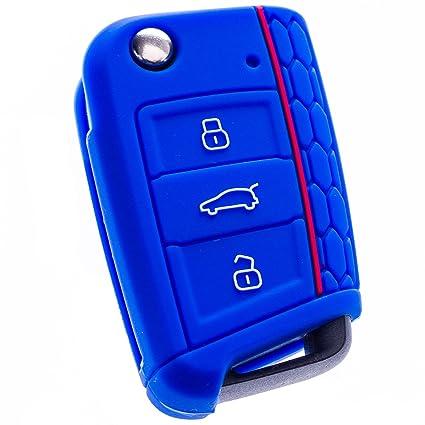 BluePony Seat Leon 5 F · SC · St · Key Cover · Llave Carcasa Llave de Coche · schlü sseh ülle Llaves · Premium, Azul Oscuro