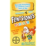 Flintstones Chewable Toddler Vitamins, Multivitamin for Toddlers with Vitamin C, Vitamin D, Folate & more, 80ct