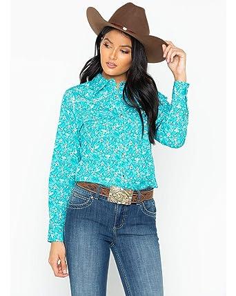 Cowboy Hardware Women S Aqua Country Floral Western Shirt 225363