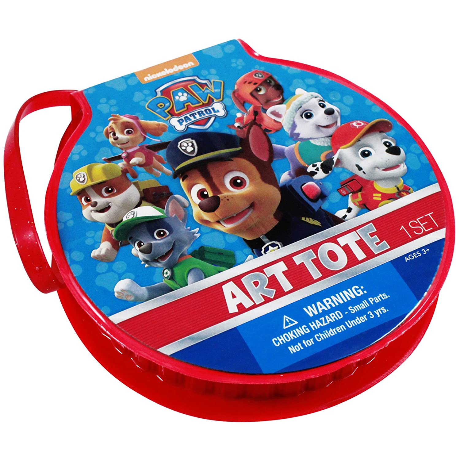 Nickelodeon Paw Patrol Kids Travel Art Case 21pc Kit