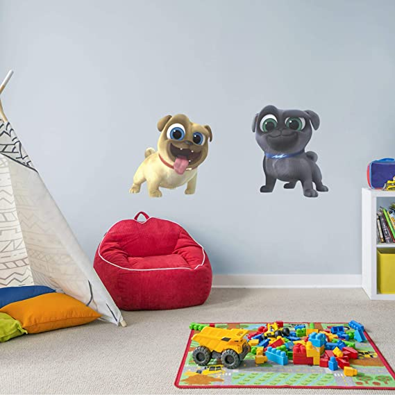 Amazon Com Puppy Dog Pals Rolly Bingo Officially Licensed Disney Removable Wall Decal Home Kitchen