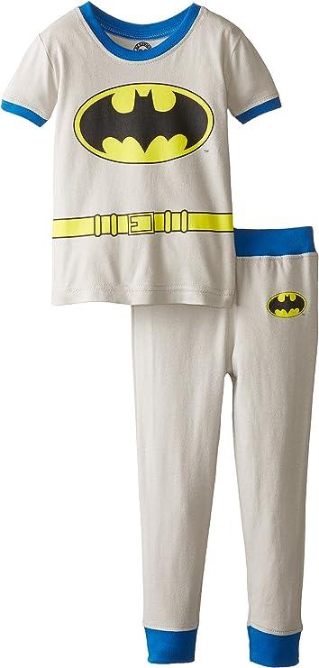 DC Comics Los bebés Varones superhéroes Manga Corta 2 Pieza Pijamas de algodón