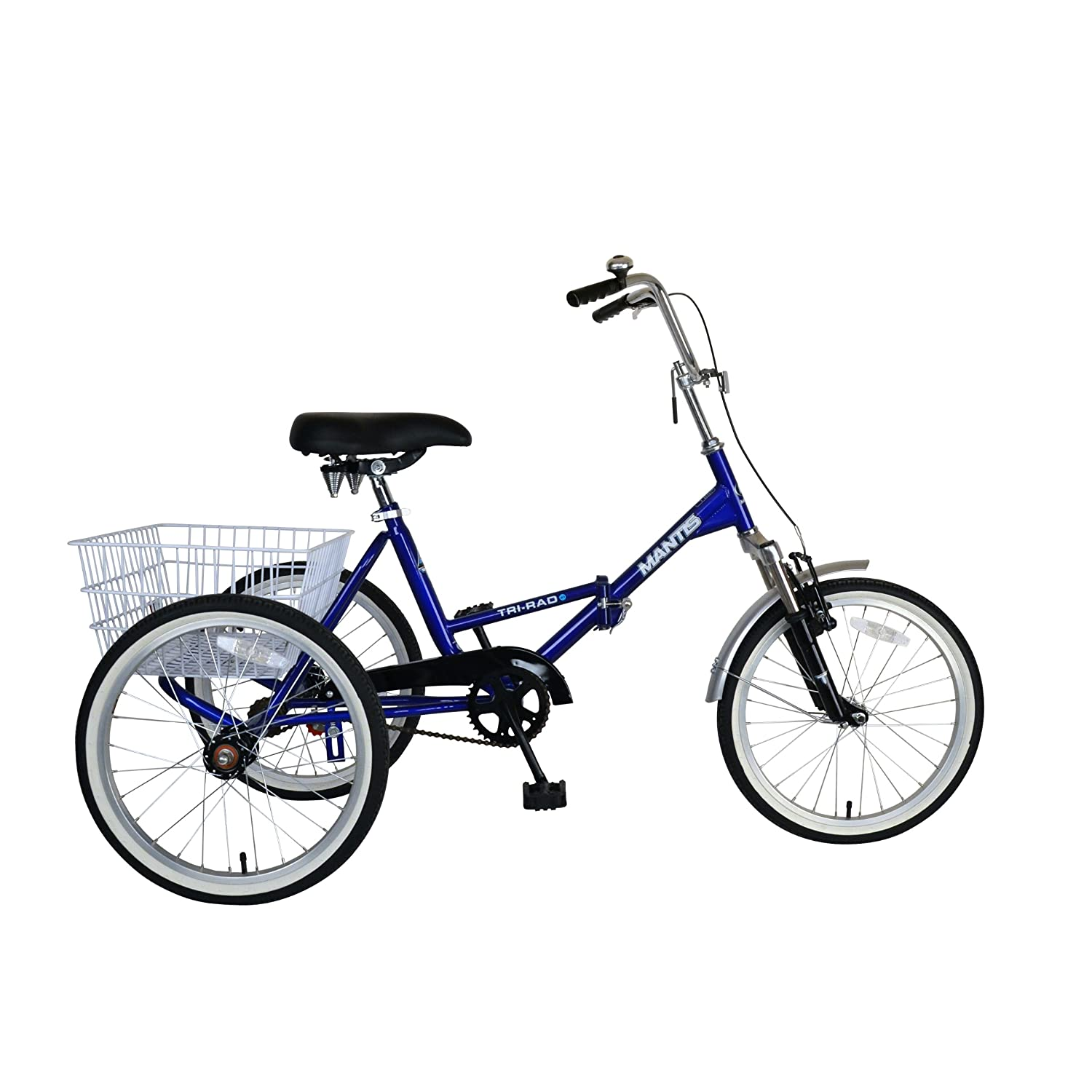 Amazon.com : Mantis 67520 Tri-Rad Folding Adult Tricycle, 20 inch ...