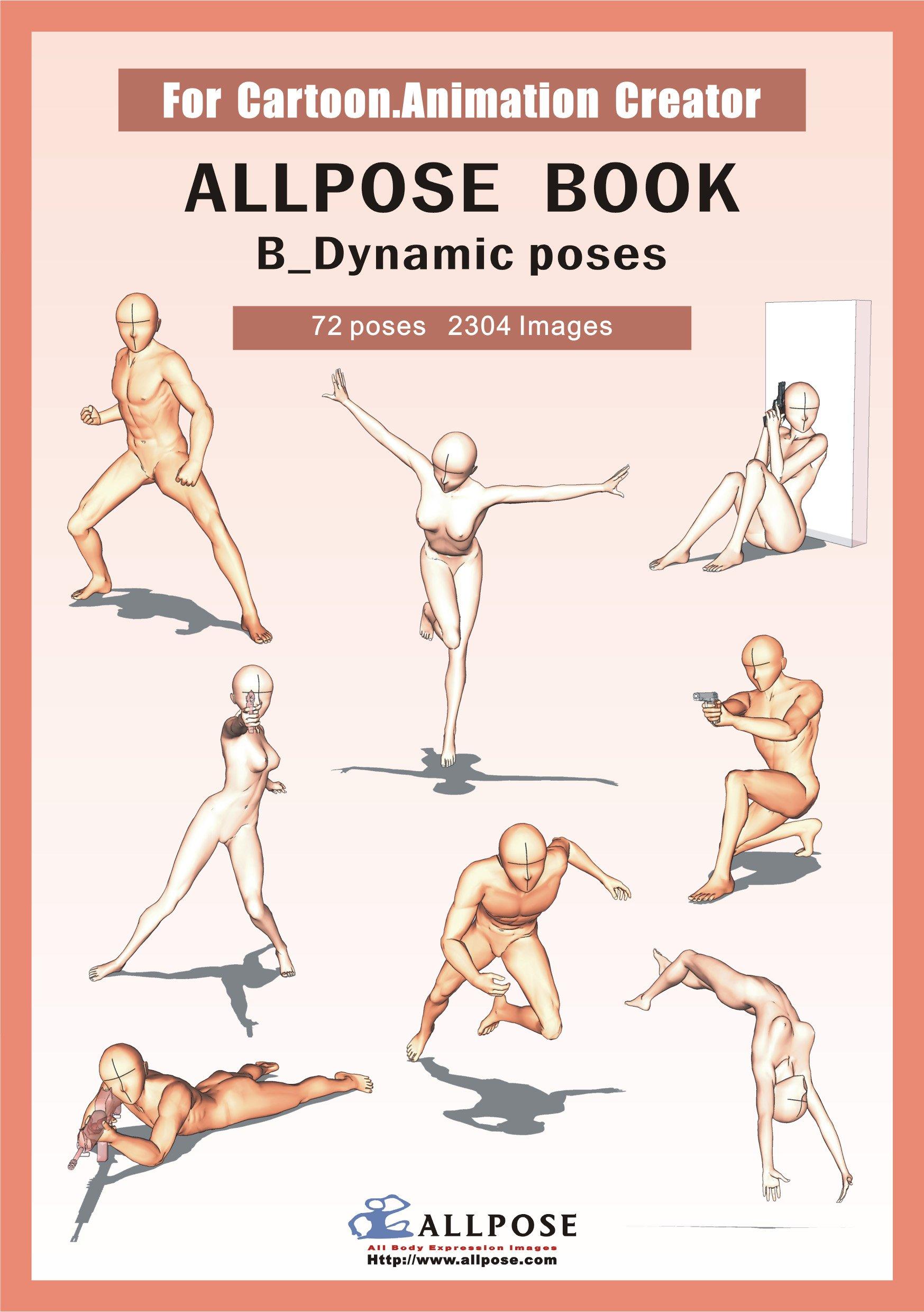 Allpose Book] B_Dynamic poses (for comic, cartoon, manga