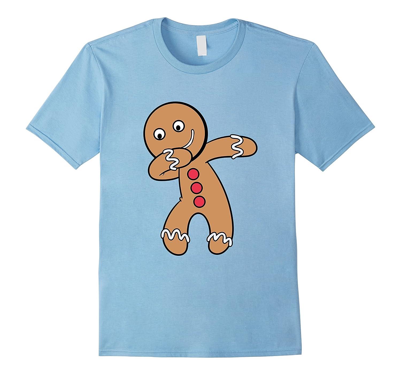Dabbing Ginger bread man T-Shirt Christmas Dab Tshirt-FL