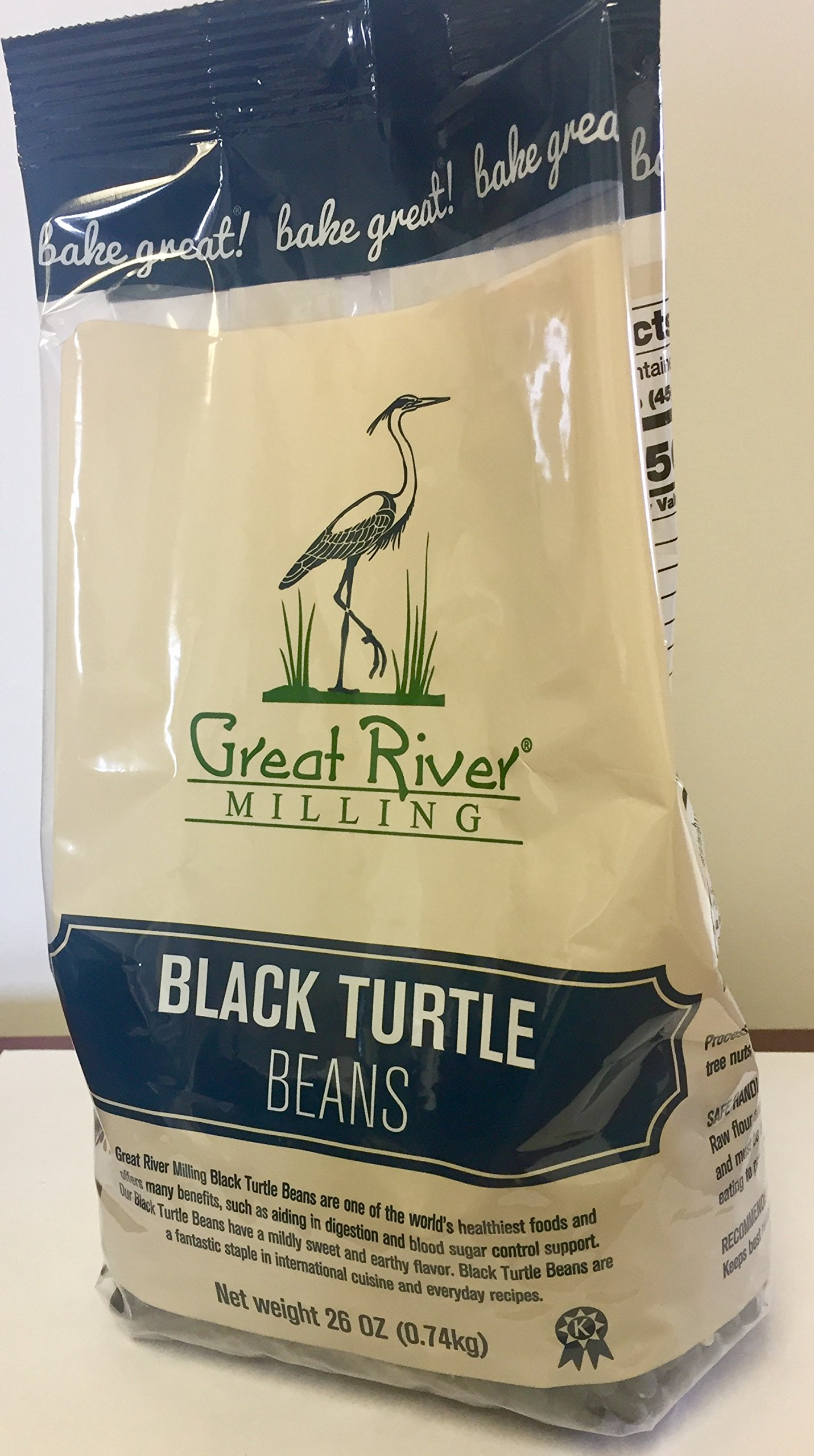 Great River Milling Black Turtle Beans, 26 Ounce (Pack of 4)