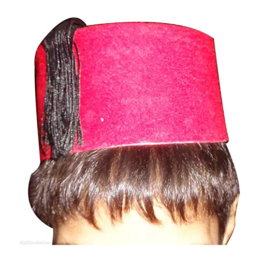 Image Unavailable. Image not available for. Color  bonballoon Red Fez Hat  Children Tarboush Turkish Ottoman Kids Black Tassel ... 18495a0a11ec