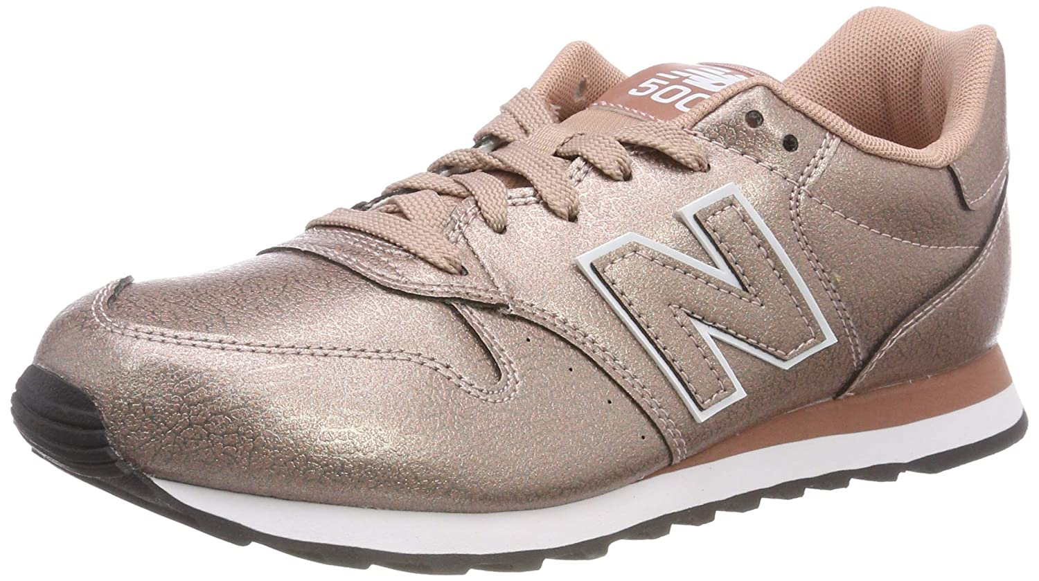 New Balance 500, Zapatillas para Mujer 37.5 EU|Rosa (Metallic Rose Gold/Metallic Rose Gold Mtb)