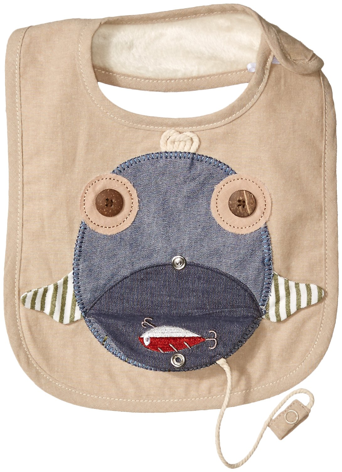 Mud Pie Baby Applique Bib, Fish Face, One Size by Mud Pie (Image #2)
