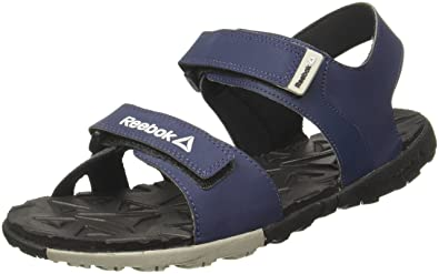 2dde8934a Reebok Men s Ace Striker Navy Grey Black Sandals - 9 UK India (43 EU ...