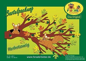Fischer Fensterbilder Herbst Zweigbastelpackung 75x50 Cmzum