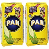 P.A.N Harina Blanca - Pre-cooked White Corn Meal 2LB. 3.3 Oz (Pack of 2)