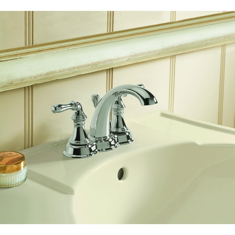 KOHLER K-393-N4-CP Devonshire Centerset Lavatory Faucet, Polished ...