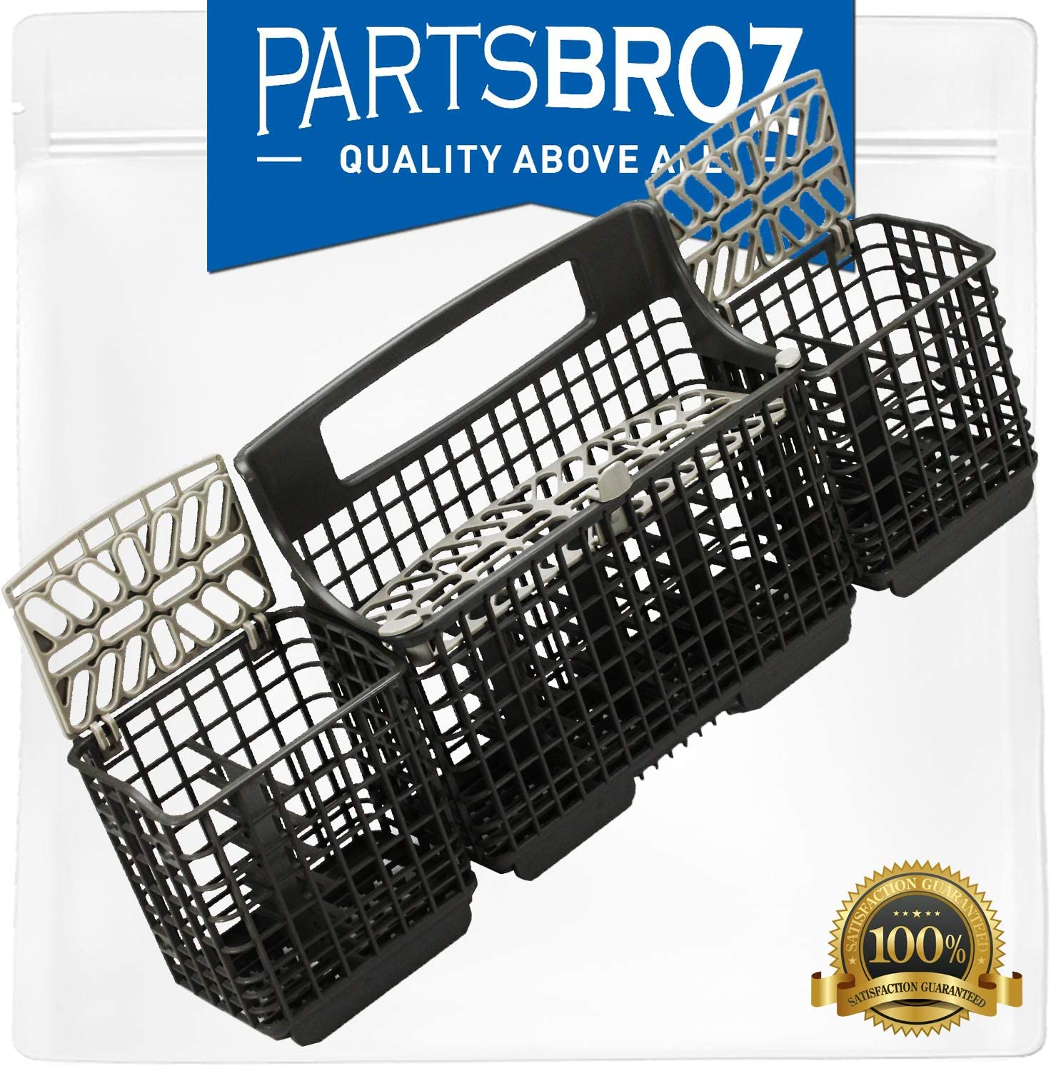 W10807920 Silverware Basket by PartsBroz - Compatible with Whirlpool Dishwashers - Replaces AP5983812, 8562086, WP8562080, 8562080, 8562084, 8562085, W10082877, 3380781, 3383588, 3384587, 8268856